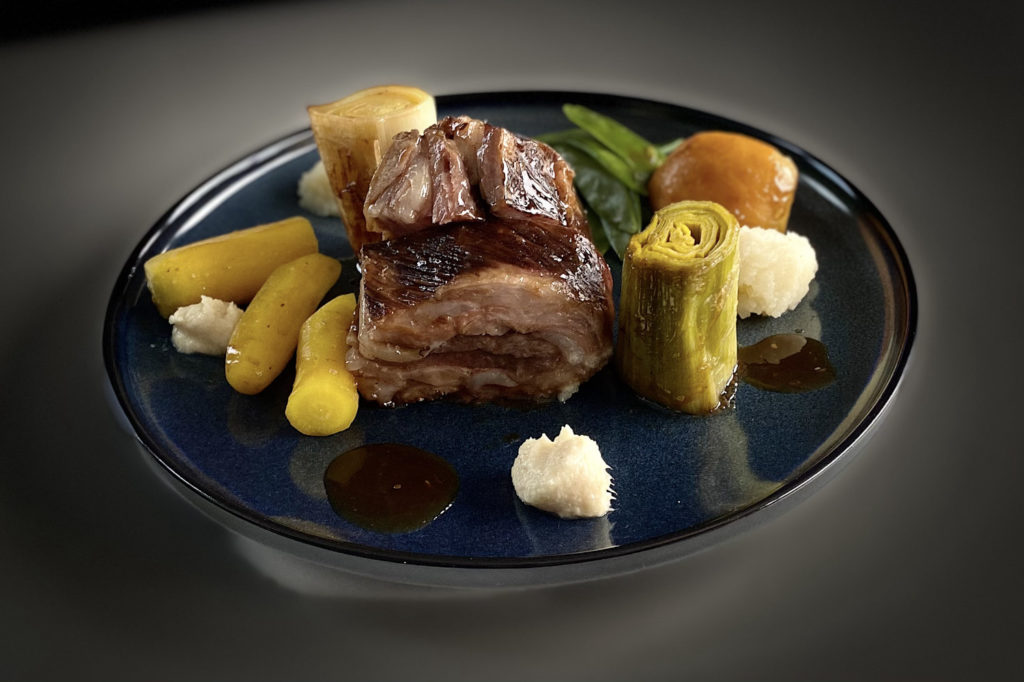 Poitrine de Porc Noir de Bigorre mode japonaise