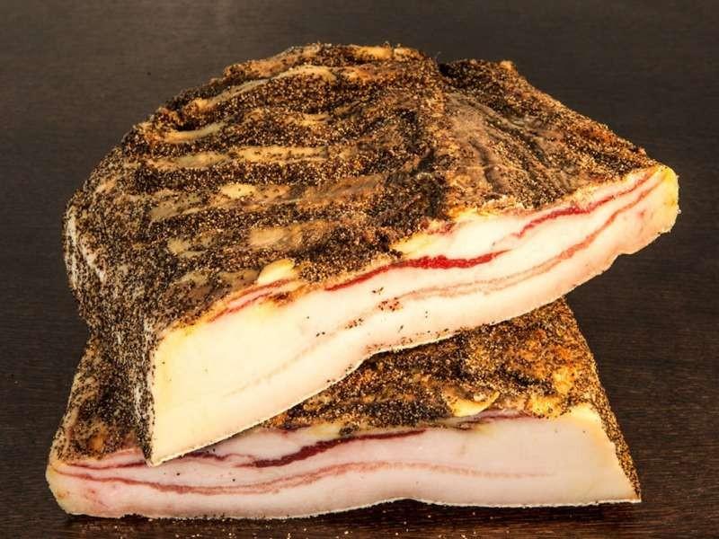 Lamelles de ventrêche Porc noir de Bigorre